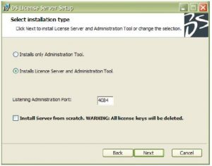 Installing the Dassault Systemes License Server on Window 7